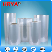 China clear package material heat shrink pvc film