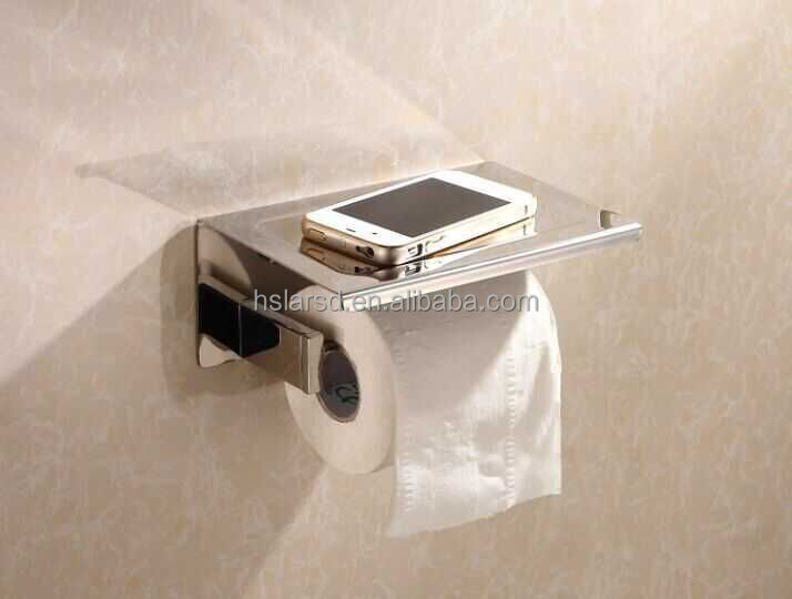 multi toilet paper holder,chrome toilet roll holder with shelf