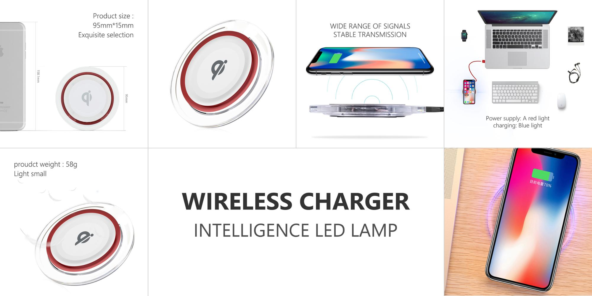 Newest custom 2.1A dual usb car charger car wireless charger
