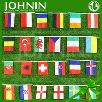 European Cup 2016 France 24 strong world countries fans decorative string flags