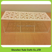 High clear acrylic tray with cover, plexiglass display tray, lucite storage tray wholesale