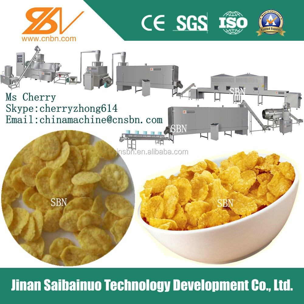 frosted corn flakes processing machine