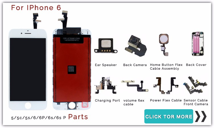 best price thin thickness lcd parts for iphone 6 plus