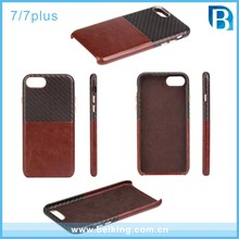 For iPhone 7 Knitting Case Patchwork Leather Weave Case for iPhone 7 Plus