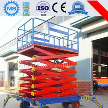 Easy operation long operation life mobile hydraulic scissor lifting platform