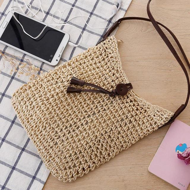 2017 embroider decorated women's raffia straw bags
