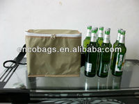 8 bottles shoulder strap inslulated beer cooler bag