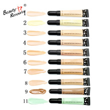 soft tube fashion waterproof multicolor brighten face cover flaw high definition makeup liquid foundation