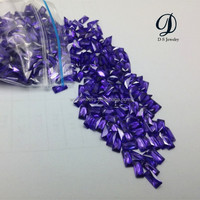 Amazing synthetic 3x6mm Baguette artificial Crystal Gemstone supplier from wuzhou, china