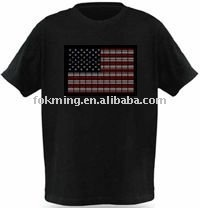 custom country flag equalizer animated flashing EL T-shirt