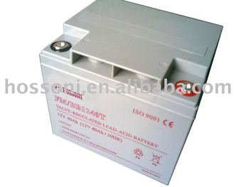 HOSSONI, dry type deep cycle battery 12V/40AHT,100%power, 100%new Material