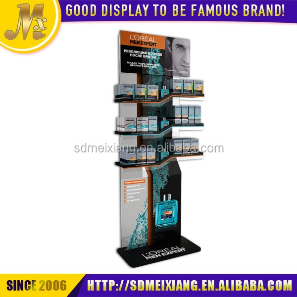 MX-WCM091 wood material perfume display exhibition cabinet for shop