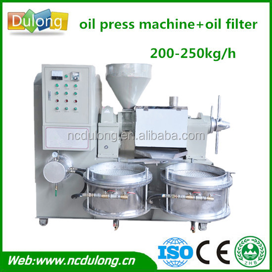 High oil production 250kg/h edible crude palm kernel oil refining machine with filter system