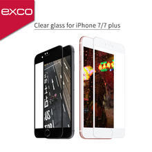 EXCO full cover Low price china mobile phone tempered glass screen protector machine for iphone 7 plus
