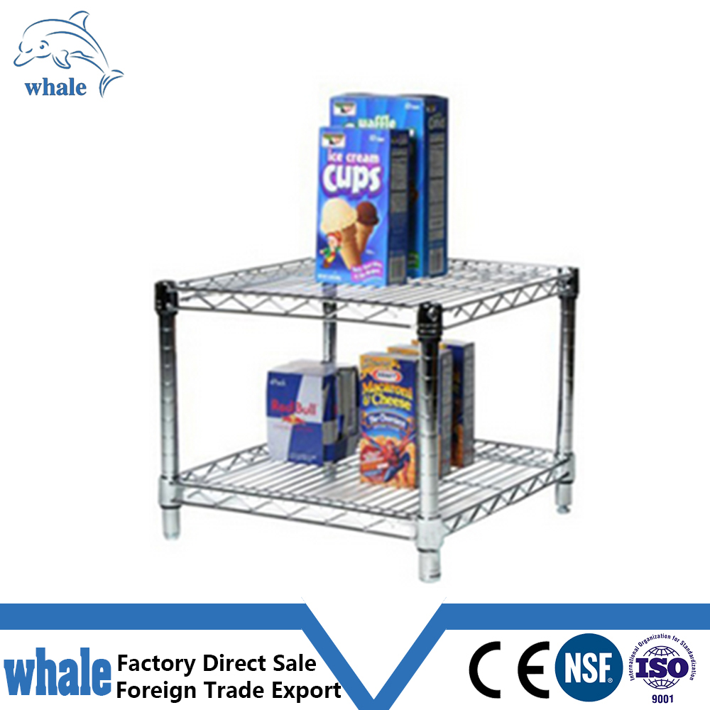 NSF&ISO Certificated Chrome Plating Wire Shelving System