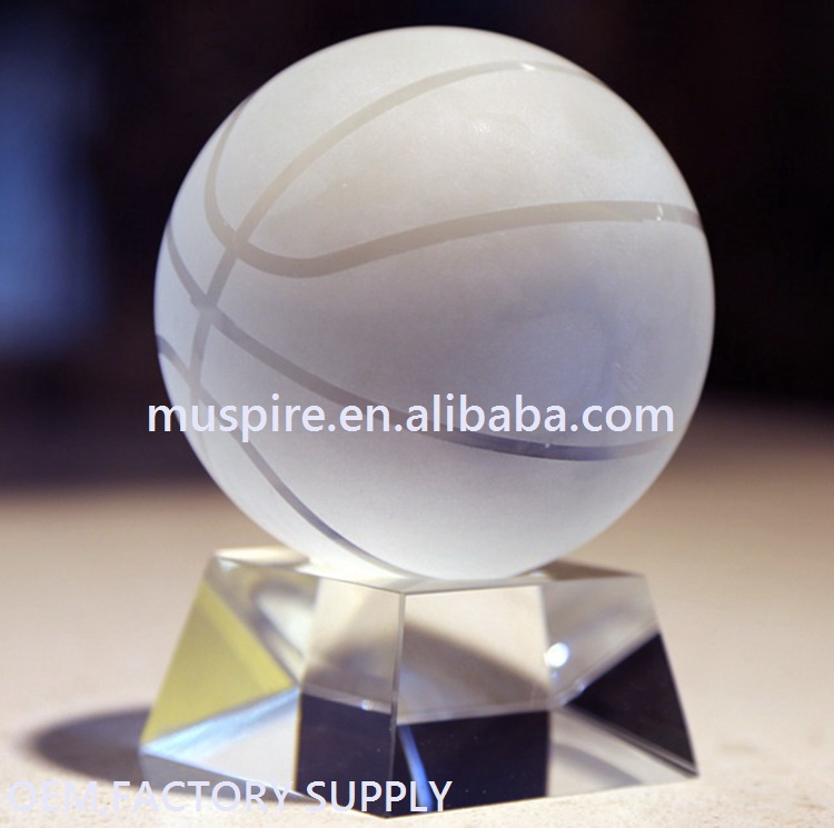 Wholesale personalized crystal round ball with high quality