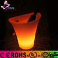 2015 manufacturer hot sale cheap rechargeable battery powered waterproor wireless clear water plastic led light up ice bucket
