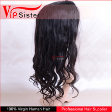 100 human front lace hair wig 22 inch virgin remy free parting no shedding deep wave wig