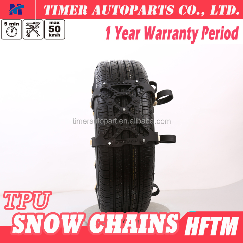 car accessories durable TPU material quickly clamp snow tyre chains
