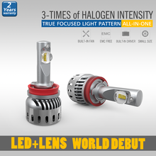 The best led car h11 with stong light intensity free OEM service