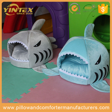Factory wholesale pet cartoon Mongolia winter warm cat shark kennel pet nest dress female