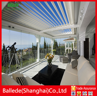 Aluminum awning design canopy roof covering patio louvers
