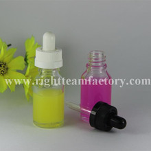 15ml child proof clear glass sterile eye droppers bottle