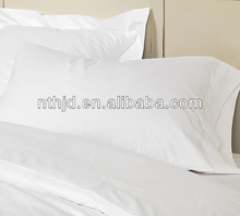 Luxury hotel white color cotton percale pillowcases