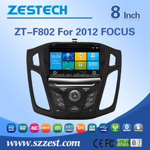 double din car gps navigation system for Ford focus 2012 digital touch screen car radio