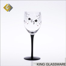 Handmade wholesale black stem drinking wine glass online wholesale