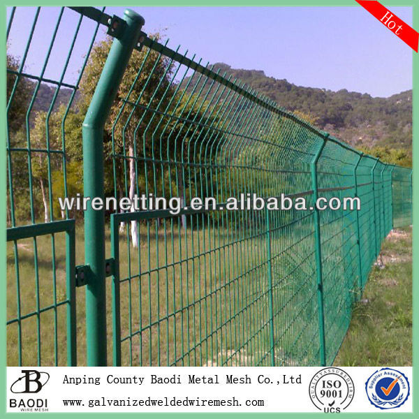 plastic welded mesh stainless steel wire rope fence