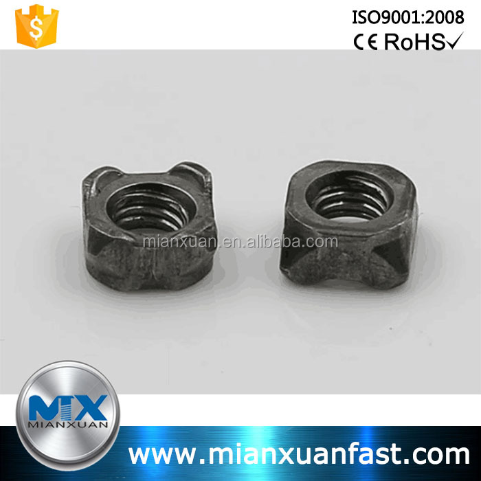 Made in China JIS B 1196 Carbon Steel Zinc Plated Square Weld Nuts