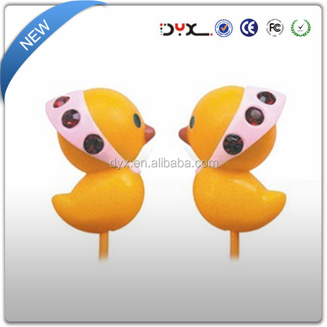 High quality unique mobile accessories alibaba wholesale 1.2m cable Rohs certificates durable animal cartoon earphone