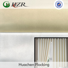 Polyster satin blackout curtain lining fabric with 3 pass coating