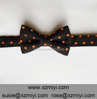 Halloween black and orange dots bow tie holiday time fall kids photography prop child baby toddler bows