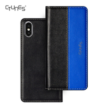 CTUNES Customized Book Style Folio PU Leather Wallet Case with Magnet Design For Apple iphone X 2018 CES Show Cases