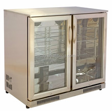 208L Glass Door Back Bar Fridge for Beer Bottles