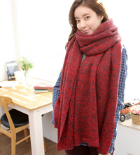 Hot Sale Thick Winter Long Fashion knitted scarf for woman