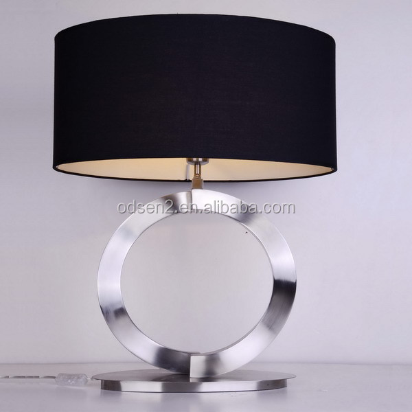6 Star Hotel Dubai Luxury Stainless Steel Table Light