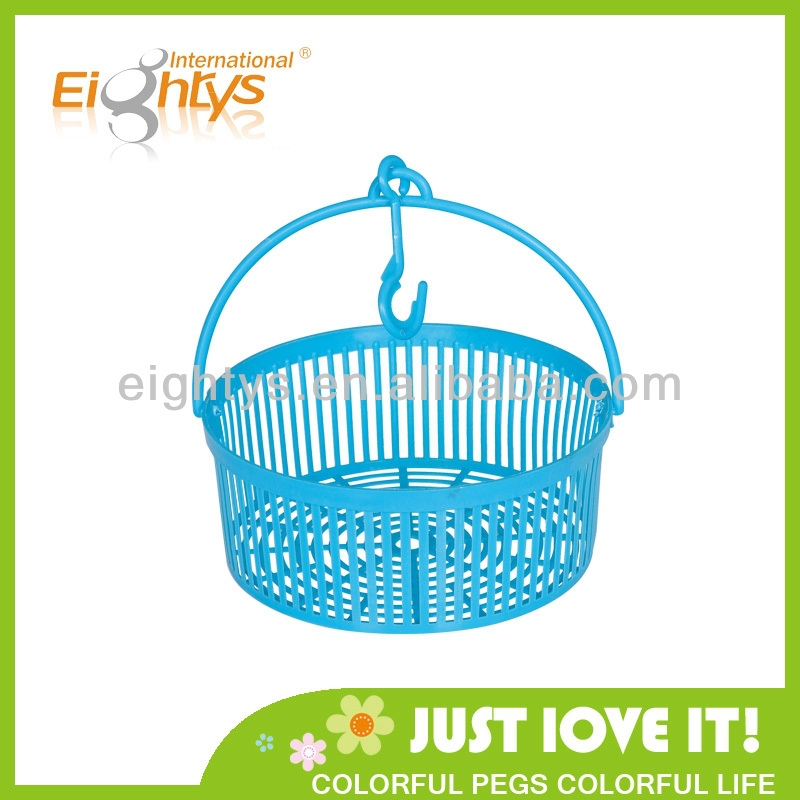 New laundry storage basket with handle and hook plastic basket