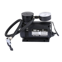 Portable Mini Auto Electric Air Compressor of Car Inflator with 3 Pneumatic Nozzle (300 PSI / DC 12V)