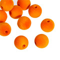 Acrylic Spacer Beads Round Orange Flocking About 19mm Dia