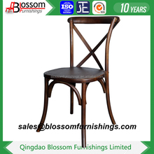 Wholesale wooden event X back dining chair for wedding