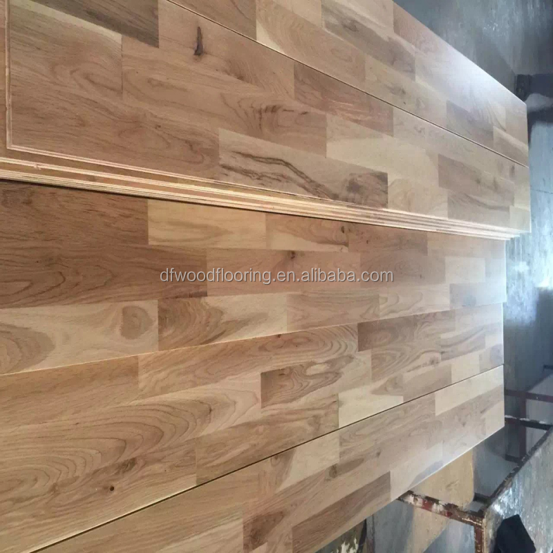 2016 Customized Natural Finished Russian White Oak Parquet Solid Wood Flooring