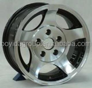 black machine face alloy wheels 13 inch 4x98
