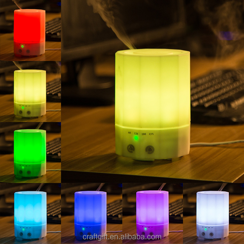 Polygon ultrasonic electronic cigar humidifier lamp