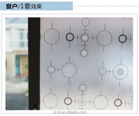 China manufacture competitive half clear self-adhesive window film