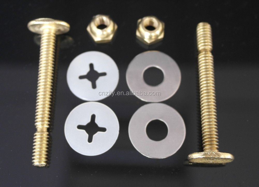 "1/4""x2-1/4"" price bolt and nut set brass Sanitary ware parts"