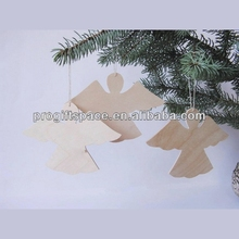 2017 hot sell handmade wooden christmas angel made in China