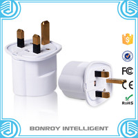 Factory high quality products 2 pin 4.8mm euro to uk 3 pin custom uae plug adapter
